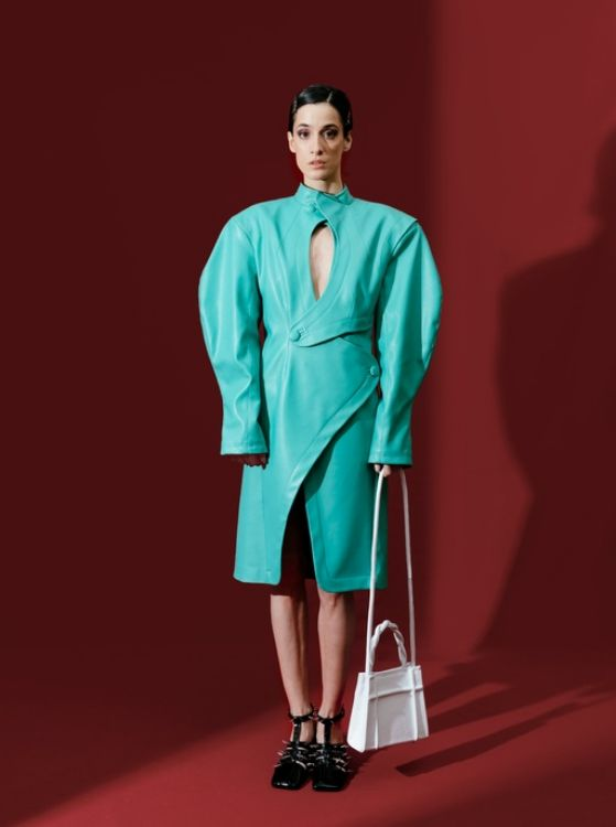 Picture of AW21-22. Turquoise dress