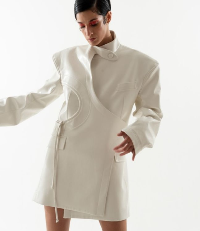 Picture of White leather dress