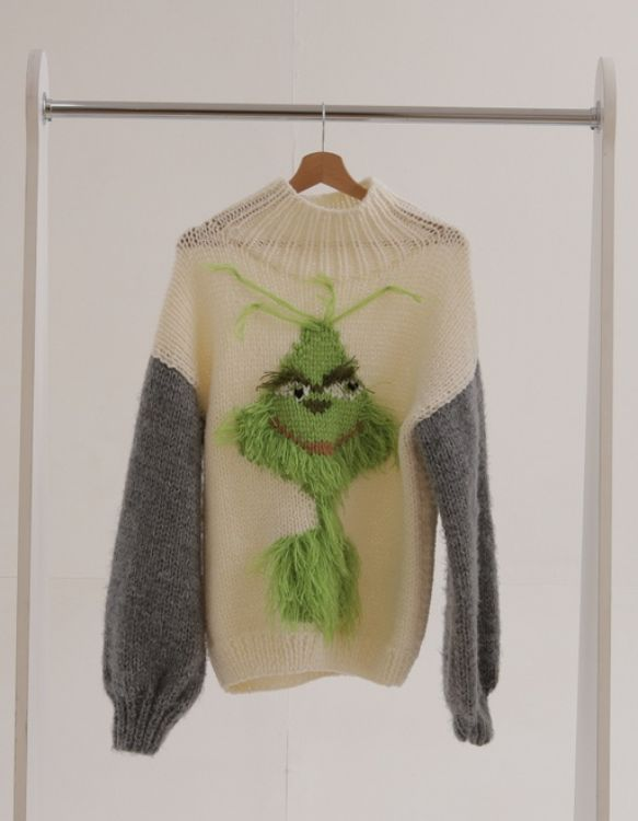 Picture of Grinch turtleneck knitted sweater