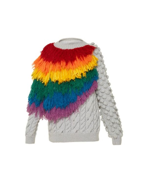 Picture of Hand-knit Rainbow Sweater