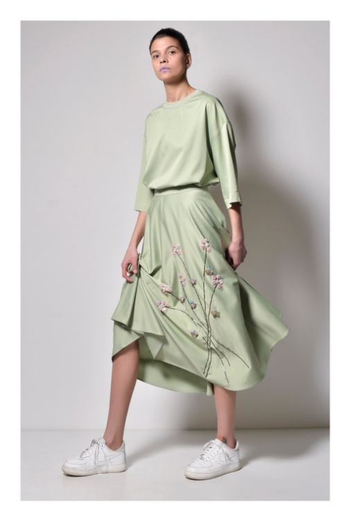 Picture of EMBROIDERED SKIRT WITH T-shirt