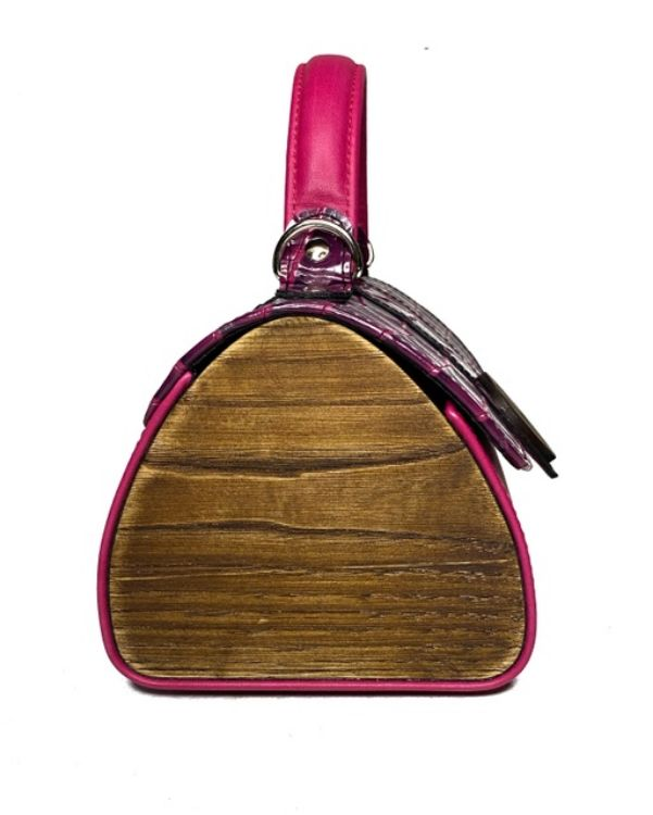 Picture of BAG WITH WOODEN DETAILS