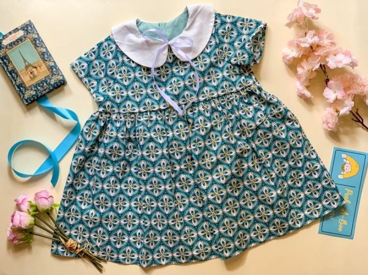 Picture of Printed linen dress