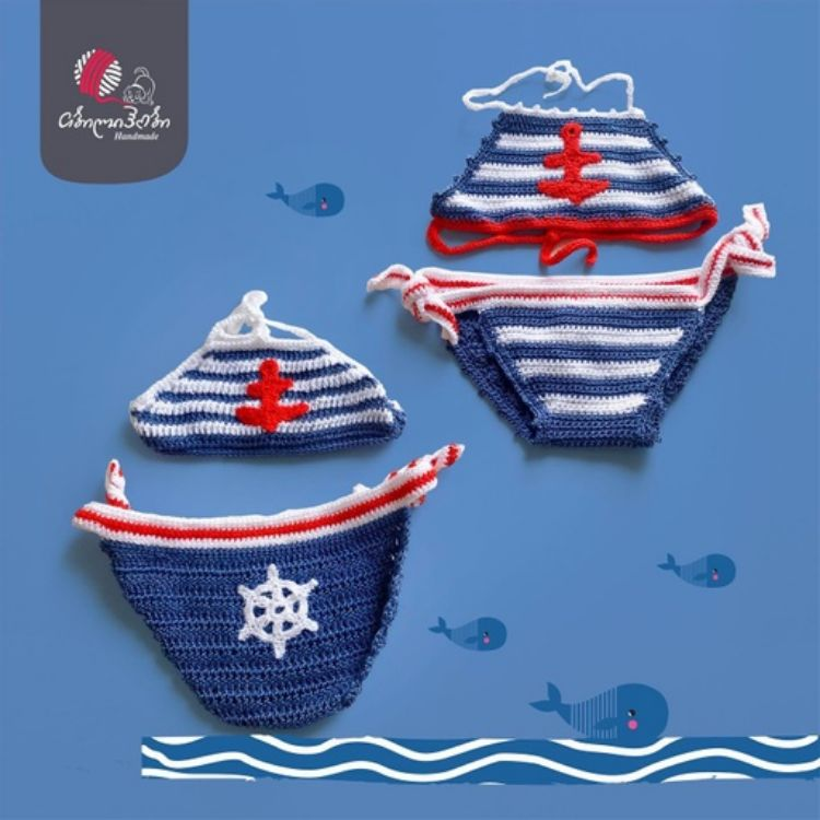 Picture of Baby knitted swimming suit