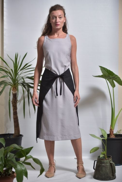 Picture of Open back belted dress