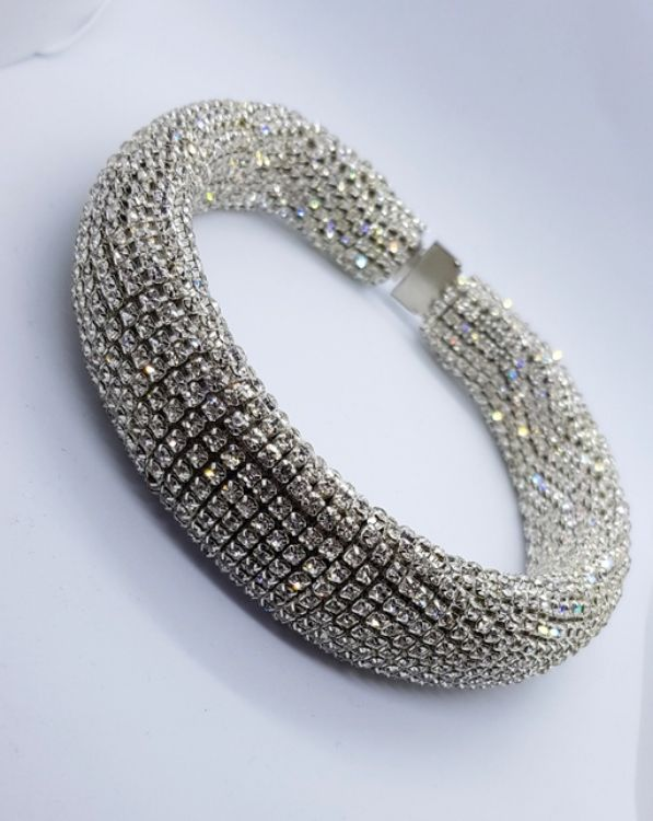 Picture of Rhinestone crystal choker necklace